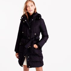 Size S Navy, wintress belted puffer coat