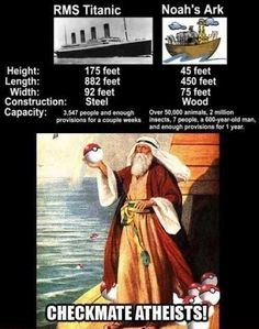 Check mate what? Isn't this proof enough that the bible is just a fucking ridicilous fairytale story? You belive in the bible, you believe in fairytales, so checkmate religitards!