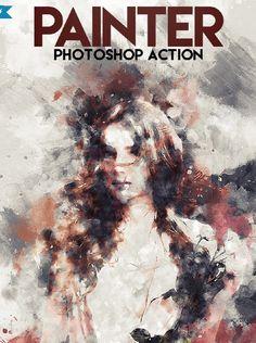 Painter #Photoshop #Action