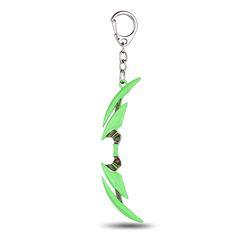 MS JEWELS 6pcs Batch DOTA 2 Bow Of Arrows Green Keychain Metal Key Rings Chaveiro Key Chain Key Jewelry Game Fans Promotion