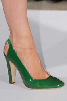 Kelly Green Patent Leather: Oscar de la Renta, Spring 2013