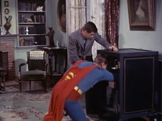 With George Reeves, Noel Neill, John Hamilton, Bill Kennedy. The Man of Steel fights crime with help from his friends at the Daily Planet. First Superman, Batman And Superman, Superman Stuff, Hero Movie, Movie Tv, George Reeves, Jimmy Olsen, Adventures Of Superman, Old Tv Shows