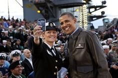 Photos of Obama Being Awesome: Obama and the Navy