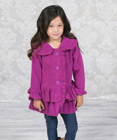 This Raspberry Chelsea Fleece Coat - Infant, Toddler & Girls by Jelly the Pug is perfect! #zulilyfinds