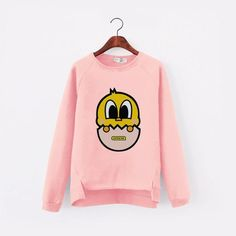 Autumn Korean 3D Printed Fleece Pullover Kawaii Sweatshirt