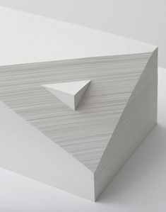 Bianca Chang - Form in white (Double prism), 2012 Paper Id Design, Wall Design, Book Design, Graphic Design, Origami, Paper Architecture, Higher Design, Australian Artists, Light And Shadow