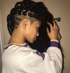 Best Picture For shaved hair designs bob For Your Taste You are lo Shaved Side Hairstyles, Undercut Hairstyles, Box Braids Hairstyles, Dreads Undercut, Girl Hairstyles, Wedding Hairstyles, Undercut Natural Hair, Tapered Natural Hair, Braids With Shaved Sides