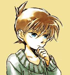 You know Shinichi, you look so handsome in that position, every girl will fall for ya!