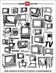 TV Clip Art | by Cathe Holden JustSomethingIMade.com