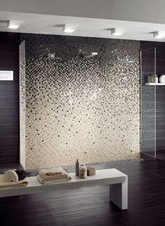 Feinsteinzeug Mosaikfliesen Für Wandgestaltung Im Badezimmer Stilvoller  Farbverlauf