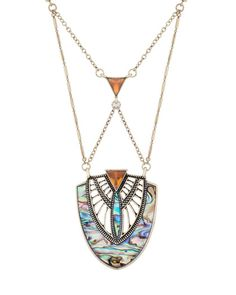 """Great addition to my """"go-to"""" ensemble...T-shirt and jeans...love the length. The Aurora Necklace #jewelmint"""