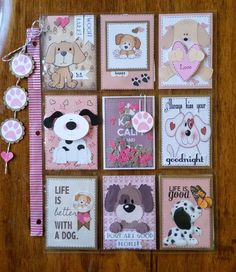 Loving this Dog theme pocket letter Pocket Pal, Pocket Cards, Pocket Scrapbooking, Scrapbook Cards, Project Life, Inchies, Mini Books, Flip Books, Fun Mail