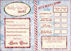Printable Elf on the Shelf **Report Card**