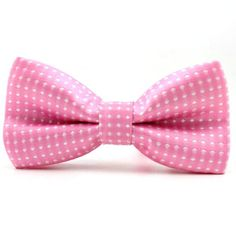 Is there anything cuter than a kid in a bowtie? Whether it's a boy in a suit or a pair of blue jeans, a polka-dot bowtie adds a bit of whimsy. Polka Dot Bow Tie, Polka Dots, Childrens Ties, Little Girls, Blue Jeans, Cute, Pink, Collection, Colors