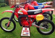 Vintage Motocross 1981 Honda CR450R Elsinore Ailes citernes CR 450R RC Works Ahrma | eBay