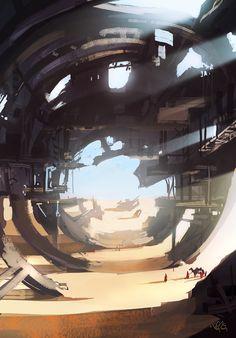 TISMOT 2D: Submarine Desert (daily spitpaint)