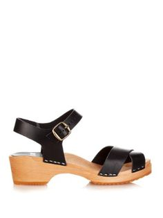 667 crossover-strap leather clogs   Funkis   MATCHESFASHION.COM US
