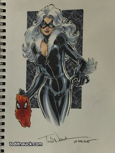 Cat Woman Cosplay Awesome Art Picks: Batgirl, Supergirl, Thing, and More - Comic Vine Spiderman Black Cat, Spiderman Girl, Black Cat Marvel, Comic Book Artists, Comic Book Characters, Comic Books Art, Comic Art, Female Characters, Marvel Girls