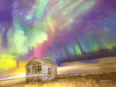 Título: Paisaje de aurora boreal. Abril 2016 Propietario: Maria Bajo Llorens