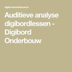 Auditieve analyse digibordlessen - Digibord Onderbouw