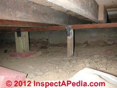 Crawl space inspection & repair before tile floor (C) D Friedman