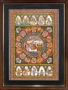 KRISHNA LEELA WITH DASHAVTAR Colorful stories of Krishna's youth, hand painted on hand processed canvas, using colors made from natural materials! The colors are bright, but not sharp on eyes. Depicted on top and bottom are the Dashavatars from the Hindu mythology, the incarnations of Vishnu. This piece will brighten up your wall and fill your home with divine love!  Link : http://kalavithi.com/krishna-leela-dashavtar-odisha-pattachitra