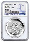 ☼} 2017-P Australia $1 1 oz. Silver Koala NGC #MS70 #ER #SKU45142 Best Prices http://ebay.to/2hoBsj2