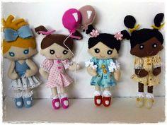Carmela Caramella : bonecas de feltro