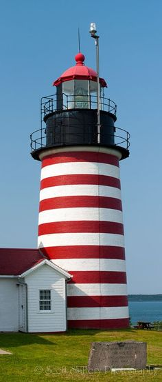 West Quoddy Head Lighthouse - Eastern Most Point In The United States - Maine