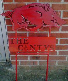 Arkansas Razorbacks Yard Sign via Etsy