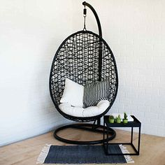 Swing Chair For Bedroom, Hammock Swing Chair, Swinging Chair, Pod Chair, Ball Chair, Hanging Papasan Chair, Accent Wall Bedroom, Aesthetic Room Decor, Dream Rooms