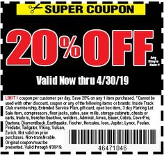74 Off Fleetfarm Com Free Shipping Discount Codes For Jul 2019 >> 18 Best Coupons Images In 2019 Coupons Harbor Freight Tools