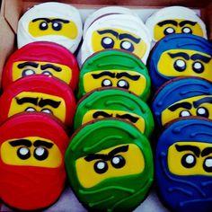 Ninjago Cookies by @cookiesbykatewi #legos #ninjago #kids #birthday