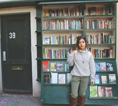 Katie Douglas candid at a Paris book store. Canadian Actresses, Student Council, Emma Roberts, Celebrity Crush, Candid, Normcore, Bambi, Celebrities, Anastasia