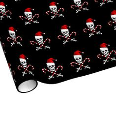 Jolly Roger Santa Wrapping Paper