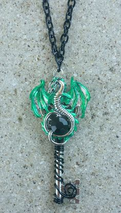 Exhilarating Jewelry And The Darkside Fashionable Gothic Jewelry Ideas. Astonishing Jewelry And The Darkside Fashionable Gothic Jewelry Ideas. Dragon Necklace, Dragon Jewelry, Key Necklace, Key Jewelry, Cute Jewelry, Jewelry Accessories, Jewelry Necklaces, Jewellery, Fantasy Jewelry