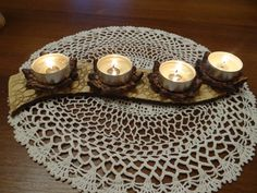 vlastní tvorba Tea Lights, Candles, Clay, Homemade, Porcelain Ceramics, Christmas, Tea Light Candles, Candy, Candle Sticks