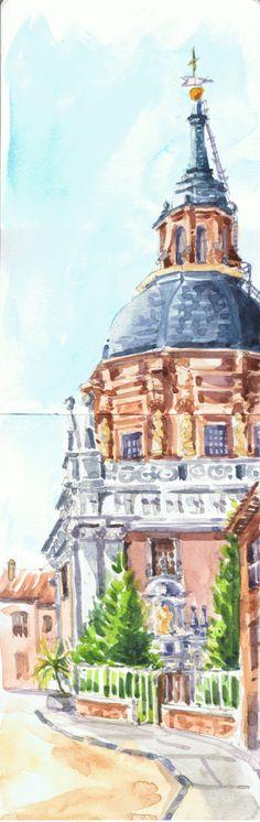 Iglesia de San Andrés. Acuarela - Watercolor on moleskine sketchbook by Isabel Mariasg.