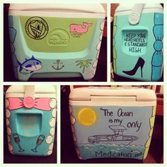 Cooler Painting: Roommate's 21st Birthday Edition