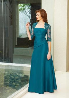 Teal Mother Of The Bride Dress Bridesmaid Dresses With Sleeves, Mob Dresses, Tea Length Dresses, Bridal Dresses, Bridesmaids, Teal Dresses, Quince Dresses, Bridesmaid Ideas, Dresses 2013