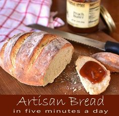 Homemade Artisan Bread in Five Minutes a Day from @Cheryl Tidymom