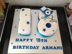 Boys 18th cake with iPod