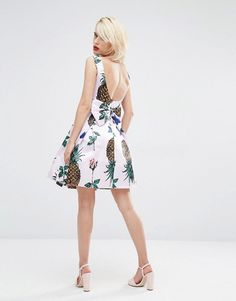 Pin for Later: 26 Pineapple Pieces So Sweet, You Won't Be Able to Resist  Horrockses Pineapple Mini Prom Dress with Bow Back ($195)