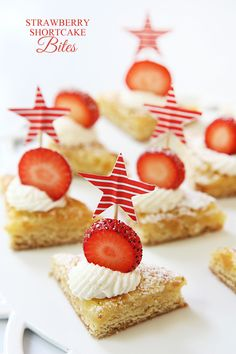 Mini Strawberry Shortcake Bites! Easy and addictively delicious!! PERFECT for summer!