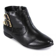 Ankle boot com fivela preto MTI20850240