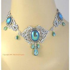 Handmade elven renaissance necklace for wedding dress - Jessica - RARE : archeress - ArtFire Jewelry