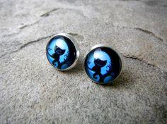 Boucles d'oreilles de chat du Cheshire Alice au par CaravanOfBeads