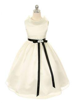 Bridal Satin With Matte Organza Overlay Girl Dress