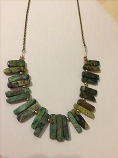 Green gemstone necklace www.eighthdaytrading.com