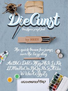 Get this font in Script bundle with other amazing fonts: - --- Introducing a calligraphic handmade custom brushpen script font - DieCunst --- What's inside: - Graphic Design Art, Logo Design, Typography Logo, Lettering, Handwritten Script Font, Behance, Brush Font, Premium Fonts, Cool Fonts